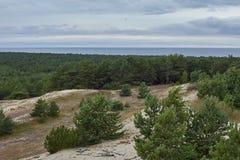 Vista aérea del escupitajo de Curonian fotos de archivo libres de regalías