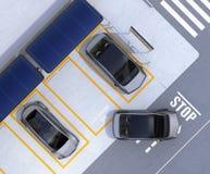 Vista aérea del estacionamiento para el negocio de la distribución de coche libre illustration