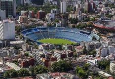 Vista aérea del estadio de fútbol del fútbol en Ciudad de México Foto de archivo