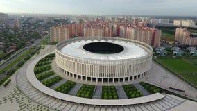 Vista aérea del estadio de Krasnodar almacen de video