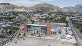 """Vista aérea del estadio de Rice†""""Eccles en el campus del Univer fotos de archivo libres de regalías"""