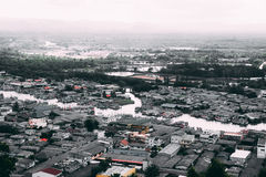 Vista aérea del estuario de Chumphon Imágenes de archivo libres de regalías