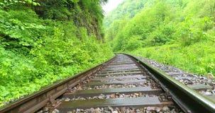 Vista aérea del ferrocarril metrajes