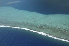 Vista aérea del filón coralino Imagenes de archivo