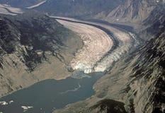 Vista aérea del glaciar de Muir foto de archivo libre de regalías
