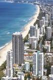 Vista aérea del Gold Coast foto de archivo libre de regalías