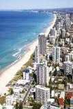 Vista aérea del Gold Coast fotos de archivo
