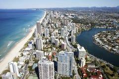 Vista aérea del Gold Coast imágenes de archivo libres de regalías
