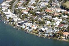 Vista aérea del Gold Coast Foto de archivo