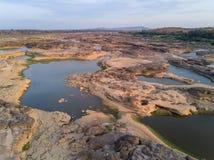 Vista aérea del Gran Cañón del bok de Samphan (bok 3000) de Tailandia Fotos de archivo libres de regalías