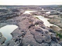 Vista aérea del Gran Cañón del bok de Samphan (bok 3000) de Tailandia Imagenes de archivo