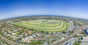 Vista aérea del hipódromo fotografía de archivo