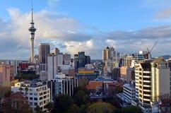 Vista aérea del horizonte de Auckland - Nueva Zelanda Imagen de archivo
