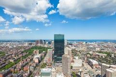 Vista aérea del horizonte de Boston - Massachusetts - los E.E.U.U. Foto de archivo libre de regalías