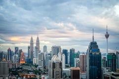 Vista aérea del horizonte de Kuala Lumpur, Malasia imagenes de archivo