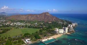 Vista aérea del horizonte de la ciudad de Honolulu