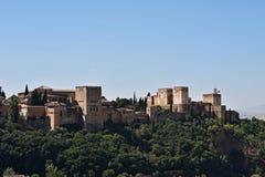 Vista aérea del La español famoso Alhambra de la estructura en Granada, en España meridional Fotografía de archivo libre de regalías
