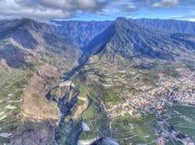 Vista aérea del La Palma Canaria Island, España fotografía de archivo libre de regalías