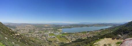 Vista aérea del lago Elsinore fotos de archivo libres de regalías