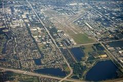 Vista aérea del lauderdale del pie, la Florida Imágenes de archivo libres de regalías