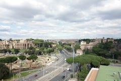 Vista aérea del maximus del circo y del Palatine en Roma Fotografía de archivo