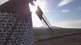 Vista aérea del molino de viento