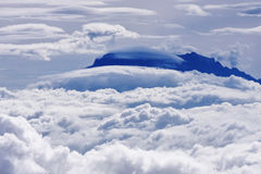 Vista aérea del montaje Kinabalu imagenes de archivo