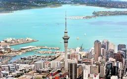 Vista aérea del museo del monumento de guerra de Auckland Imagen de archivo libre de regalías