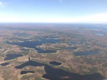 Vista aérea del paisaje ártico Imagen de archivo libre de regalías