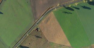 Vista aérea del paisaje de la hierba verde Foto de archivo
