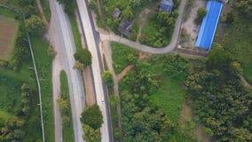 Vista aérea del paisaje del rural de Tailandia metrajes