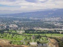 Vista aérea del paisaje urbano de Burbank Imagen de archivo libre de regalías