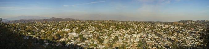 Vista aérea del paisaje urbano de Highland Park Foto de archivo
