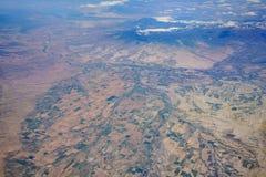 Vista aérea del paisaje urbano hermoso de Olathe imágenes de archivo libres de regalías