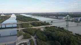 Vista aérea del palacio del belvedere en Viena, Austria almacen de metraje de vídeo