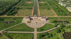 Vista aérea del palacio de Konstantinovsky en Strelna, St Petersburg fotografía de archivo libre de regalías