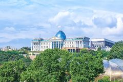 Vista aérea del palacio presidencial de Georgia en Tbilisi Foto de archivo