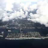 Vista aérea del Palm Beach, la Florida Fotos de archivo libres de regalías