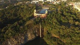 Vista aérea del parque de Tangua CURITIBA, PARANA/BRAZIL En julio de 2017 almacen de metraje de vídeo