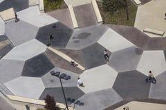 Vista aérea del parque del patín Imagen de archivo