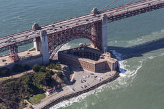 Vista aérea del parque histórico nacional del punto del fuerte Fotografía de archivo