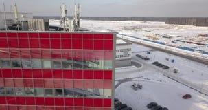 Vista aérea del parque industrial chino en Bielorrusia almacen de metraje de vídeo