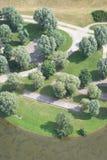 Vista aérea del parque recreacional imagen de archivo