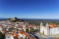 Vista aérea del pueblo de Castelo de Vide en Alentejo, Portugal Foto de archivo libre de regalías