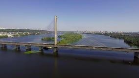 Vista aérea del puente del sur almacen de metraje de vídeo