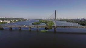 Vista aérea del puente del sur almacen de video