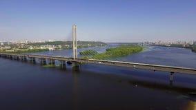 Vista aérea del puente del sur metrajes