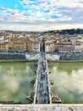 Vista aérea del puente Ponte San Ángel Imagenes de archivo