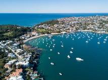 Vista aérea del puerto de la bahía de Watsons, Sydney Fotografía de archivo libre de regalías