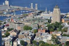 Puerto de Quebec, la ciudad de Quebec céntrica, Canadá imágenes de archivo libres de regalías